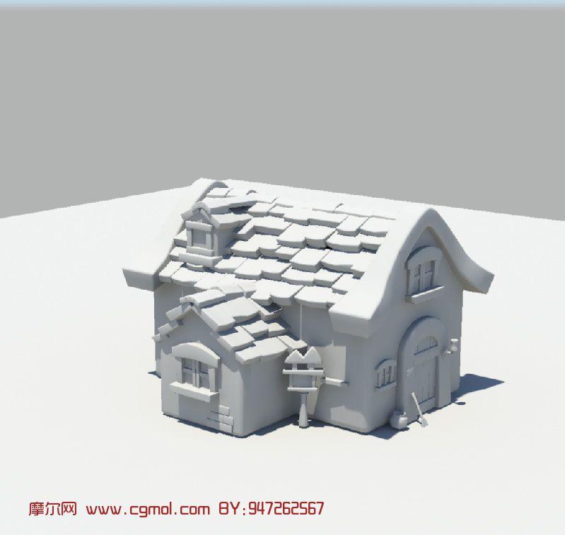 卡通房屋,建筑3D模型