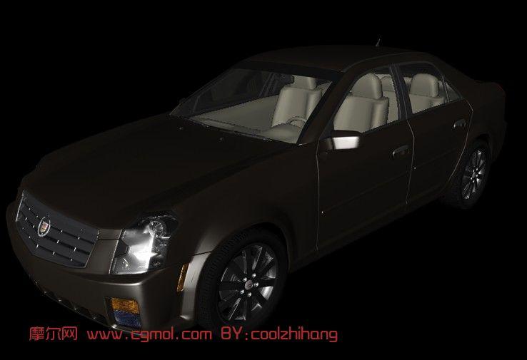 凯德拉克 CTS C4D 模型