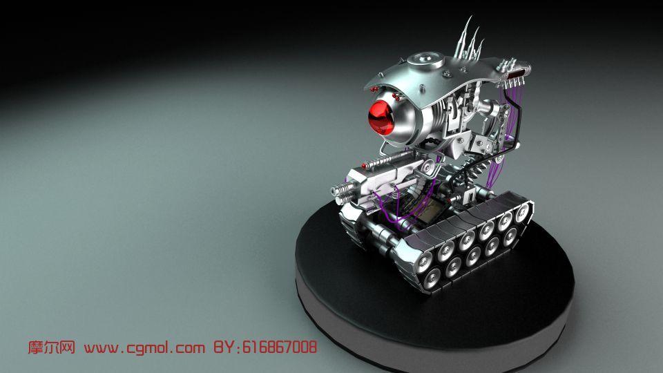 智能机器人,机械角色max3d模型