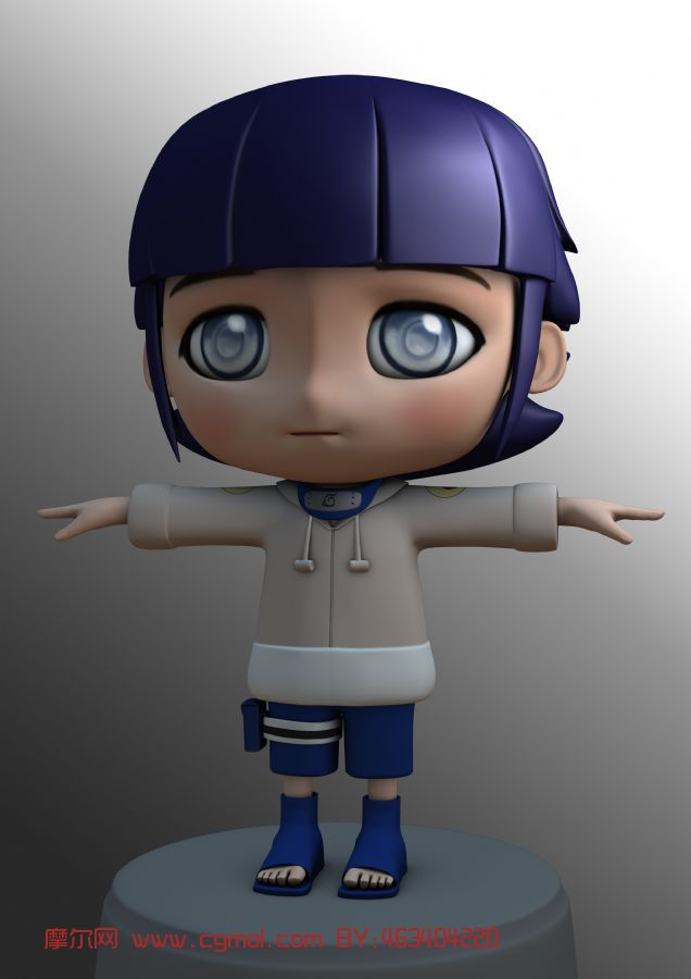日向雏田,火影忍者,女孩,卡通人物maya3d模型