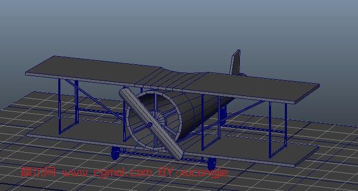 老式飞机,二战飞机3d模型