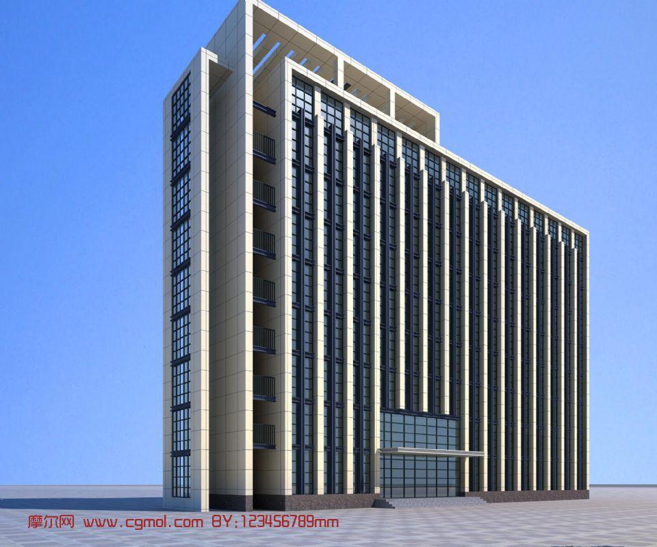 建筑,写字楼,室外场景max3d模型