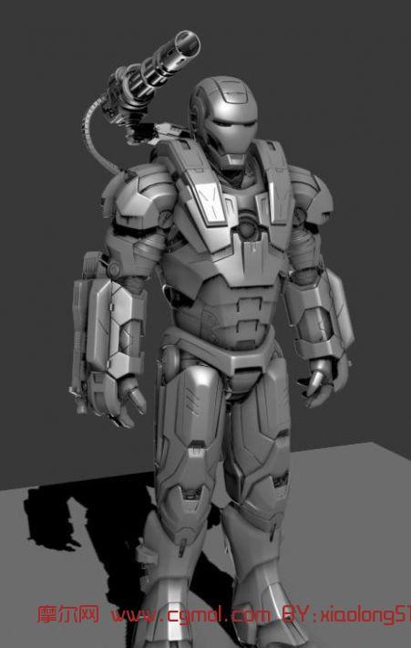 钢铁侠,机械角色3d模型