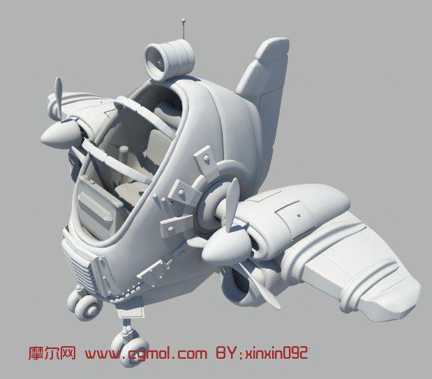 卡通飞机,战机,飞机maya3d模型