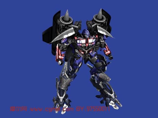 变形金刚,机械角色max3d模型