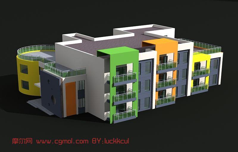 幼儿园,建筑,室外场景max3d模型