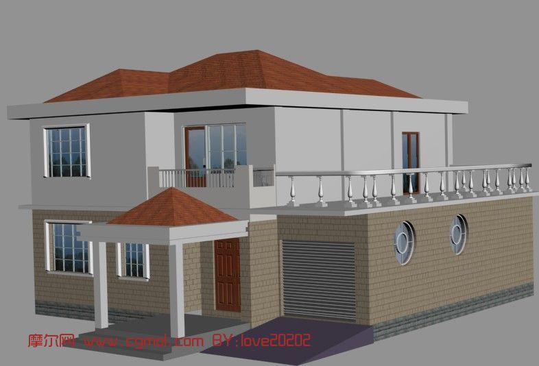 别墅农村3D场景,现代模型,户型场景,3D模型免栋八万科模型墅别墅图片