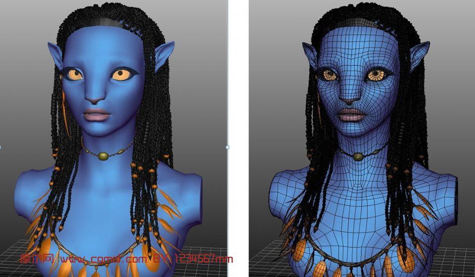 阿凡达,奈特莉人物头像maya3d模型