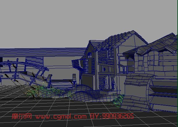 古代室外场景maya模型