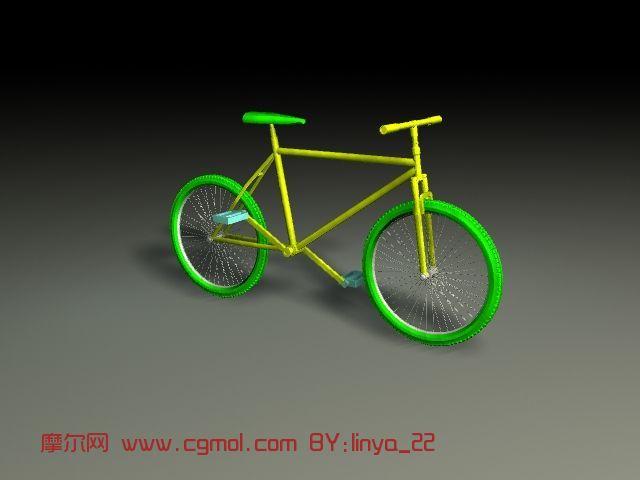 简单的自行车maya模型高清图片