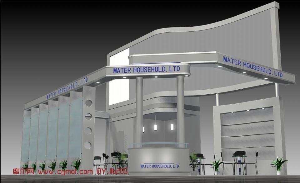 展览馆,建筑,室外场景max3d模型