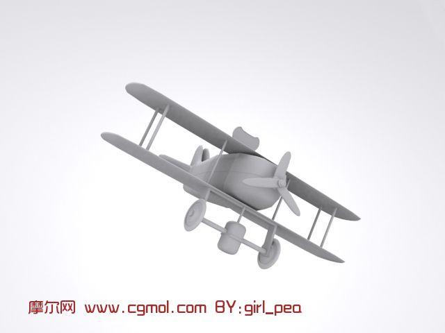 卡通飞机,飞行工具max3d模型