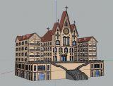 基督教教堂,建筑,室外�鼍�max3d模型