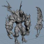 怪物,游戏角色max3d模型
