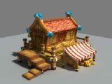 卡通Q版房子,建筑,室外场景max3d模型