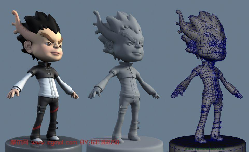 动画角色 卡通角色 小龙人 maya3d模型 高清图片