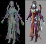 永恒之塔女神,女性,游戏角色maya3d模型