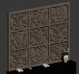 浮雕,背景墙max3d模型