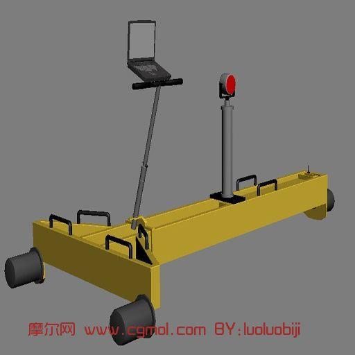 轨检小车,机械max3d模型