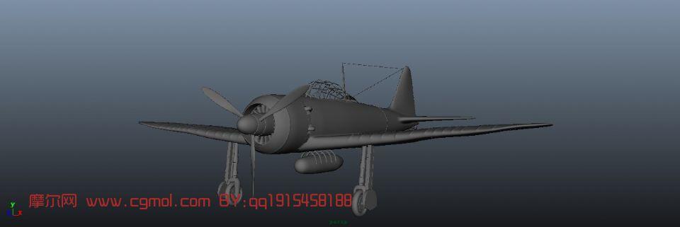 二战飞机,战斗机maya3d模型