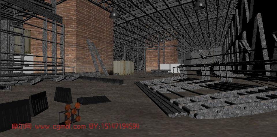 仓库厂房,建筑,室内场景max3d模型