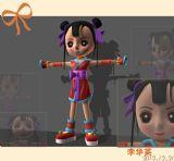 卡通,Q版古装女孩,卡通人物maya3d模型