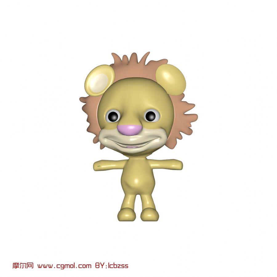q版狮子,卡通动物max3d模型