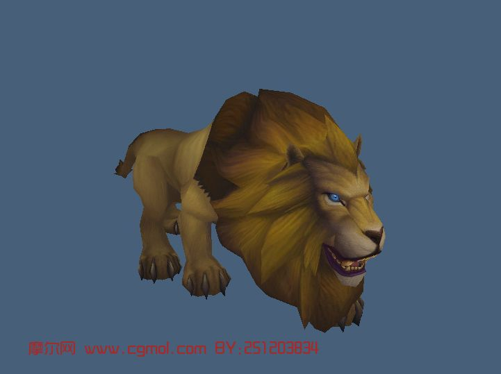 狮子,动物maya3d模型