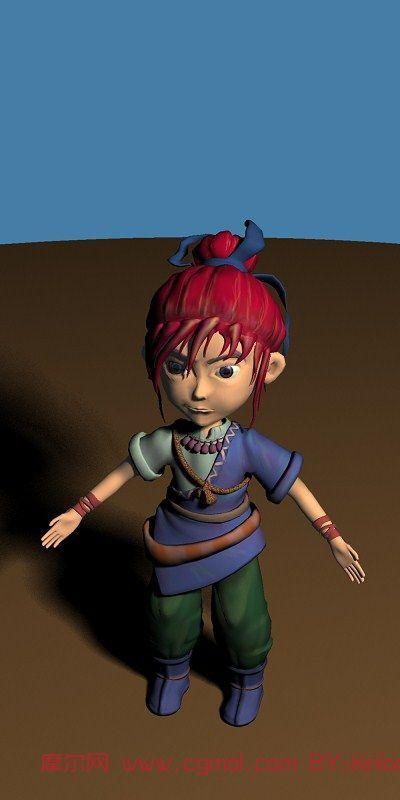 梦幻西游,游戏角色maya3d模型