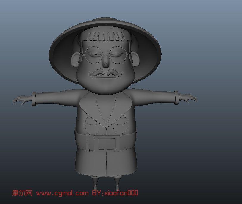 卡通人物maya3d模型图片