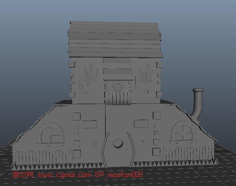 卡通房子,建筑,室外场景maya3d模型