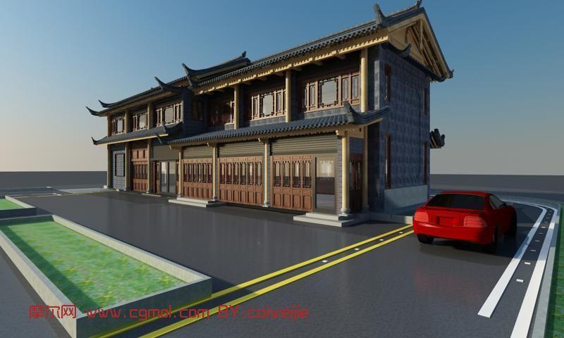 古建筑,楼房,室外场景max3d模型