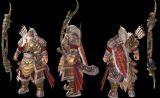 黄忠,三国,御龙在天游戏角色max3d模型