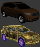 日产英菲尼迪汽车,交通工具max3d模型