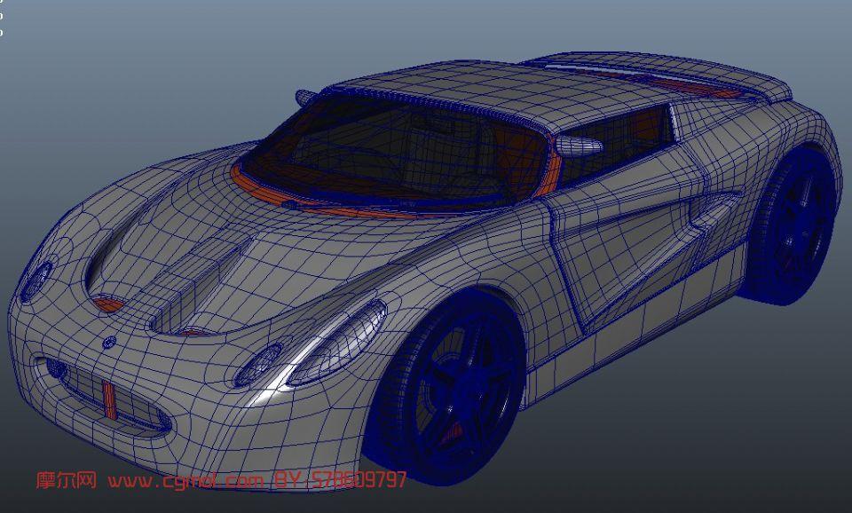 精致跑车,汽车maya模型 其他 运输模型高清图片