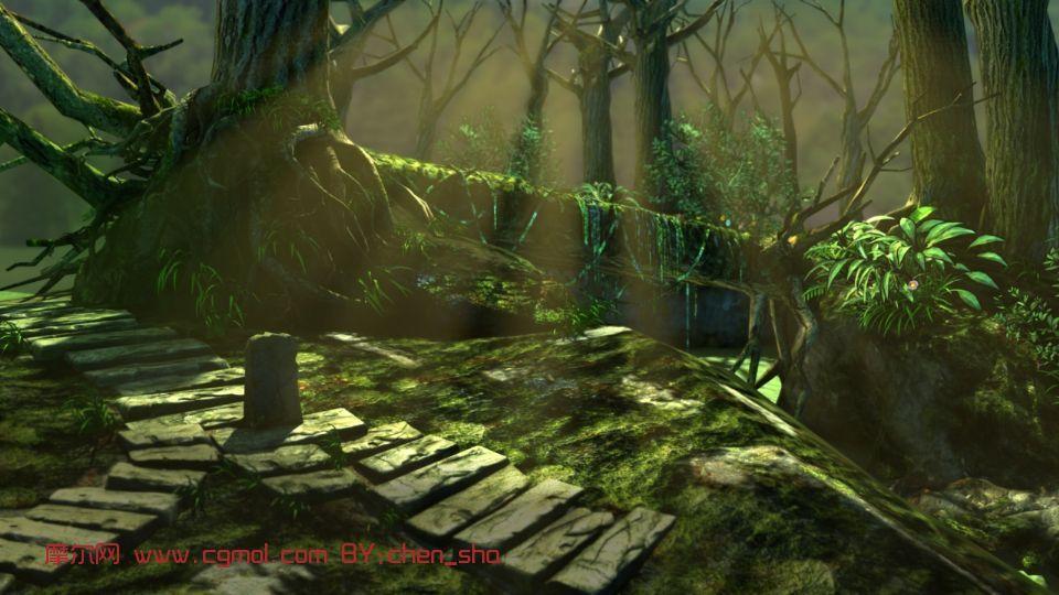森林角落,场景maya3d模型
