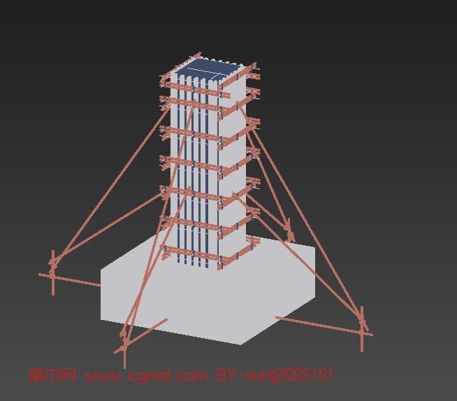 工地建筑,室外场景max3d模型