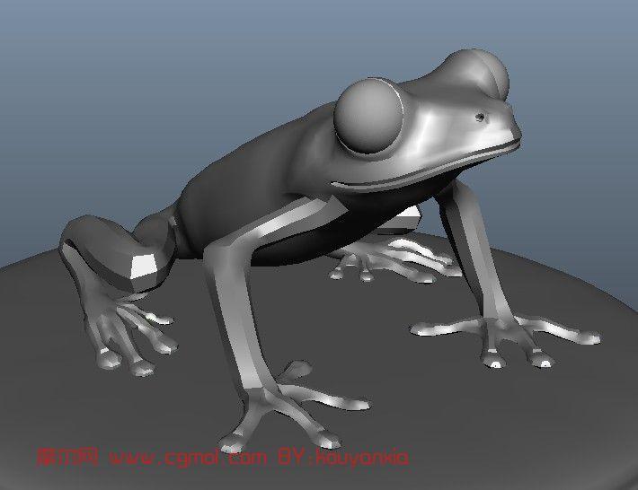树蛙,毒箭蛙.动物maya模型