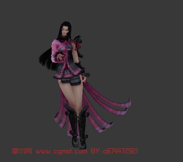 全金属狂潮3下载_战国,女性,游戏角色max3d模型_其他角色_游戏角色_3D模型免费下载 ...