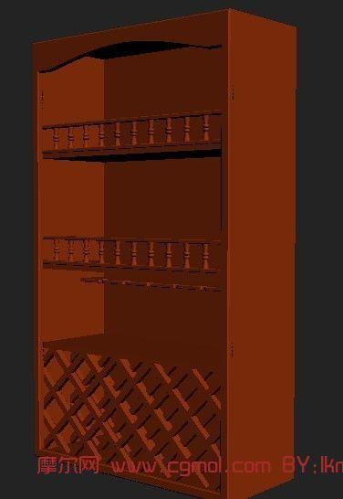 实木工艺柜,室内家具max3d模型