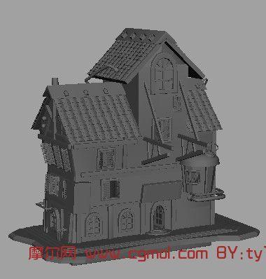 现代的房子,建筑,室外场景maya3d模型