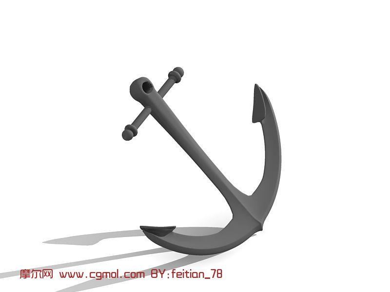 锚,船锚3D模型
