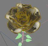 玫瑰花,植物max模型(带花开动画)