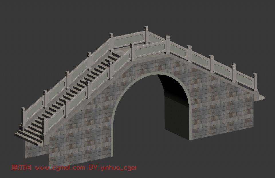 拱桥,石桥,建筑,室外场景3d模型