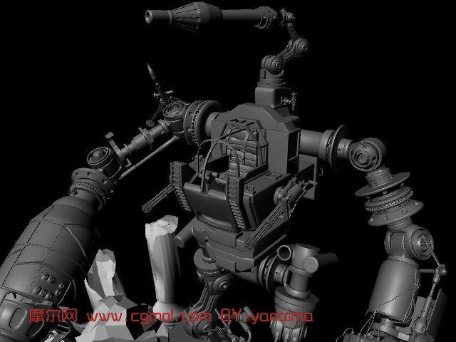 机器人 机械角色maya模型高清图片