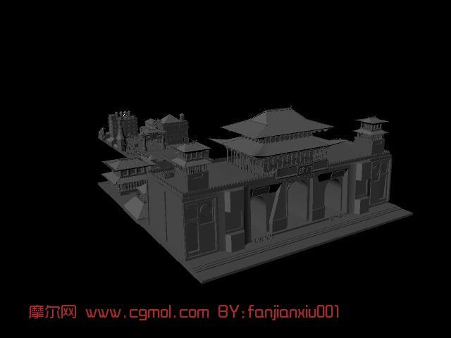 古建筑,阁楼,塔,室外建筑maya模型