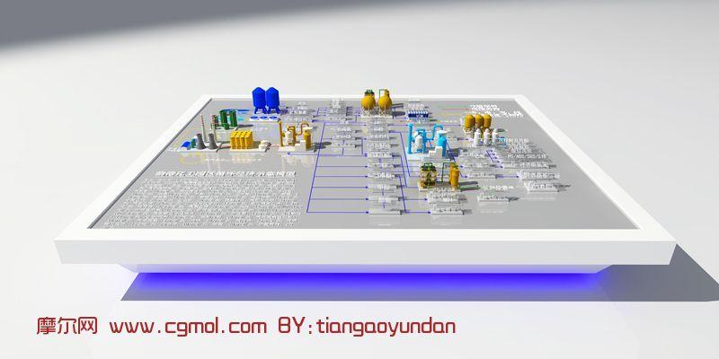 化工流程3d模型