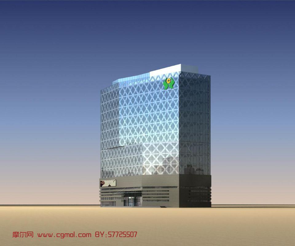 办公楼,建筑,室外场景max模型