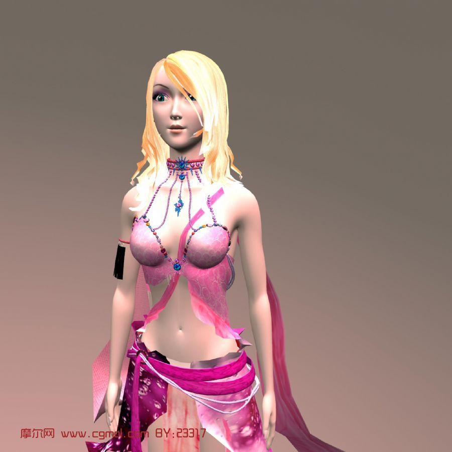 女孩,舞者,卡通人物maya模型 科幻角色 动画角色 高清图片