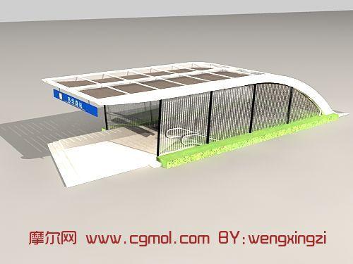 地铁入口,建筑,室外场景max模型